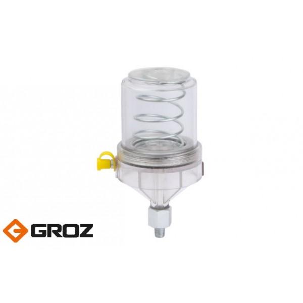 Автономные дозаторы смазки из поликарбоната GROZ GFD/PP/1/B