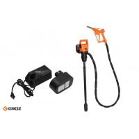 Комплект: Электрический насос для бочек и еврокубов с аккумулятором